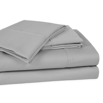 Whalers Ultra Soft Hypoallergenic 400 Thread Count 100% Cotton Sheet Set Size: King, Color: Silver