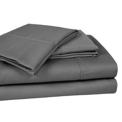 Whalers Ultra Soft Hypoallergenic 400 Thread Count 100% Cotton Sheet Set Size: King, Color: Gray