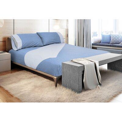 Binder 300 Thread Count 100% Cotton Sheet Set Color: Denim Blue, Size: Queen
