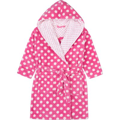 Stiffler Plush with Hood Bathrobe Size: Large, Color: Pink