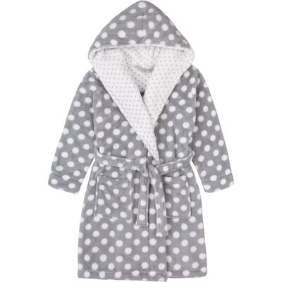 Stiffler Plush with Hood Bathrobe Size: Large, Color: Gray