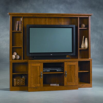 Buy low price sauder rose valley entertainment credenza in abbey oak finish sau wood 404867 - Sauder harvest mill home theater ...