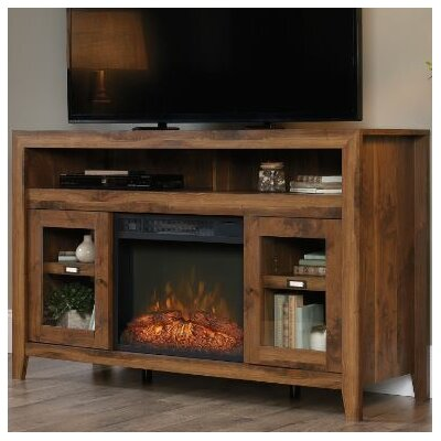 Pemberton Entertainment Credenza TV Stand with Electric Fireplace