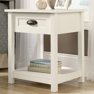 Rossford 1 Drawer Nightstand Color: White