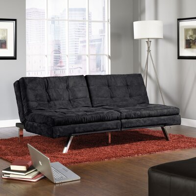 Durant Sleeper Sofa Upholstery: Black