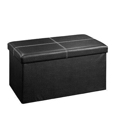 Everett Upholstered Storage Ottoman Upholstery: Black