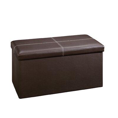 Beginnings Upholstered Storage Ottoman Upholstery: Brown