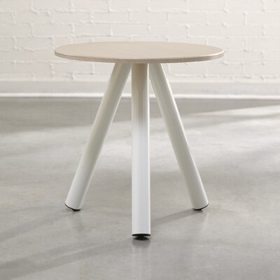 Beatriz Soft Modern End Table Color: Pickeled Ash / Arctic White