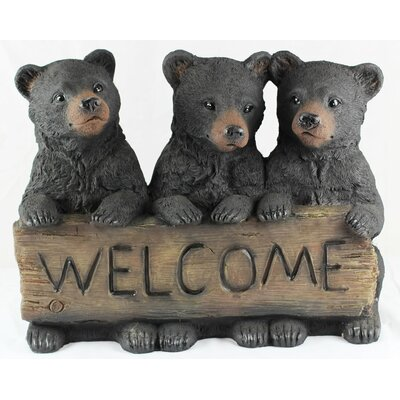 3 Bear Cubs Welcome Sign Figurine 10828
