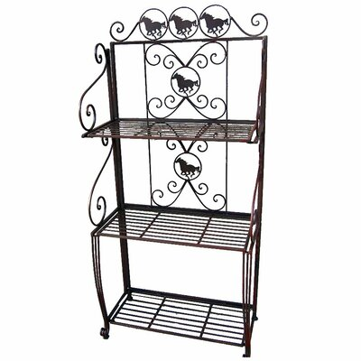 Metal Horse 3 Tier Standard Bakers Rack