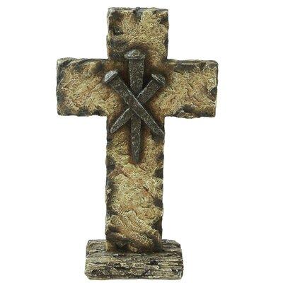 Standing Nails Cross Sculpture 12889