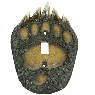 Bear Paw Single Switch Plate Cover