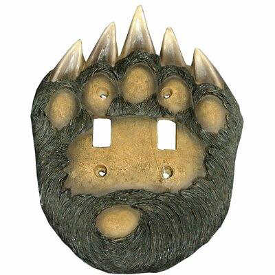 Bear Paw Double Switch Plate Cover