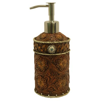 Tooled Flower Lotion and Soap Dispenser 15051
