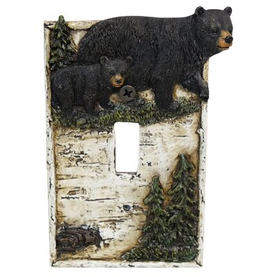 Bear On Birch Single Switch Plate