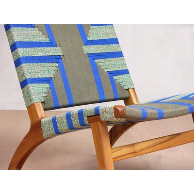 Lounge Chair Upholstery: Emerald Coast Manila, Finish: Royal Mahogany