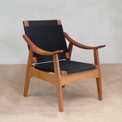 Izapa Arm Chair Upholstery: Black Manila
