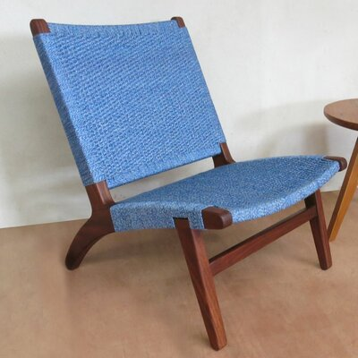 Side Chair Upholstery: Indigo Manila