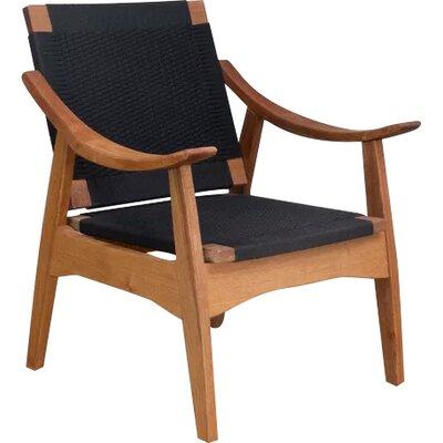 Izapa Armchair Upholstery: Black Manila