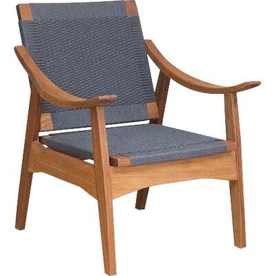 Izapa Armchair Upholstery: Charcoal Gray Manila