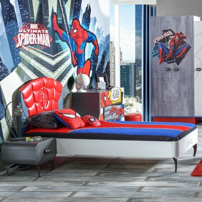 Spiderman Twin Sleigh Bed AL01GO04SPM1099191