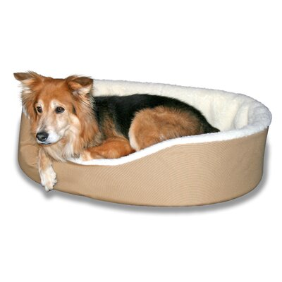 Dog Bolster Size: (X- Large) 42 W x 31 D, Color: Tan