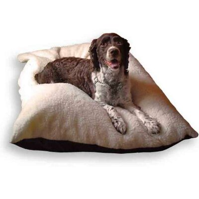 Imitation Lambswool Dog Pillow Size: Large (36 W x 27 D)