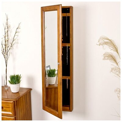 "Wildon Home Bullock 48"" High Wall Mount Jewelry Mirror in Oak at Sears.com"
