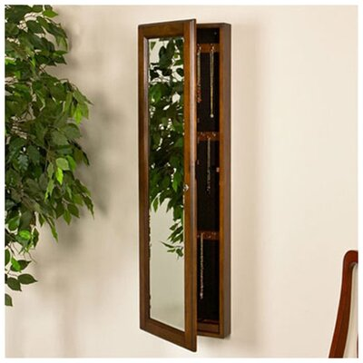 "Wildon Home Billock 48"" High Wall Mount Jewelry Mirror in Warm Walnut at Sears.com"