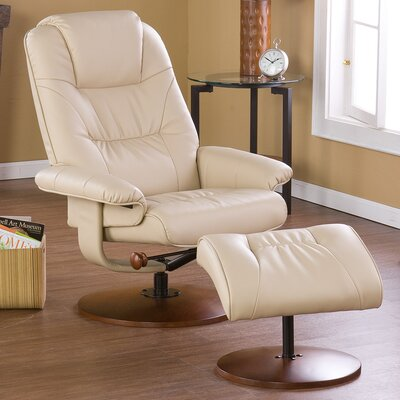 Wildon Home Urban Leather Ergonomic Recliner and Ottoman at Sears.com