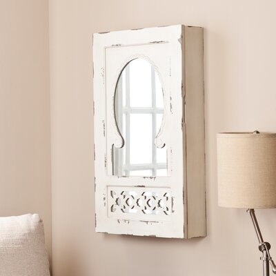 Wildon Home Davida Shabby Elegance Wall Mount Jewelry Mirror Armoire at Sears.com