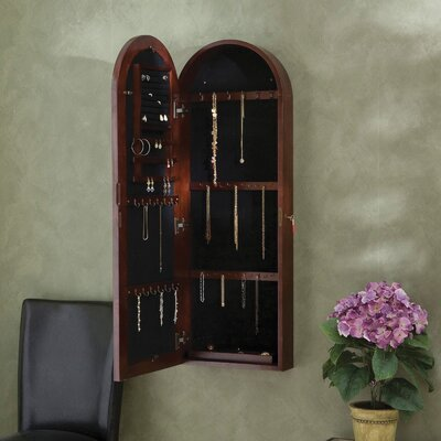 Wildon Home Fenwick Wall Mount Jewelry Armoire - Dark Cherry at Sears.com