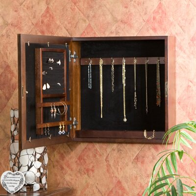 Wildon Home Oakton Espresso Square Wall Mount Jewelry Armoire in Espresso at Sears.com