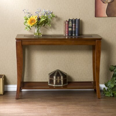 Cheap Wildon Home Overbrook Slate Sofa Table in Brown Cherry (UT2376)