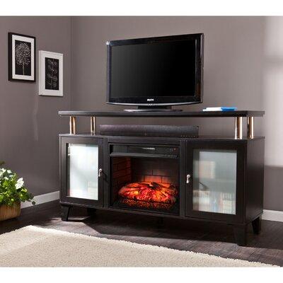Kastel Media Infrared Electric Fireplace Finish: Black