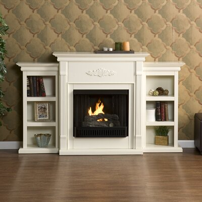 Franklin Bookcase Gel Fuel Fireplace