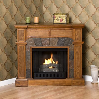 Market Gel Fuel Fireplace Finish: Oak