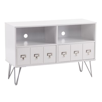 Abbie 42 TV Stand Color: White