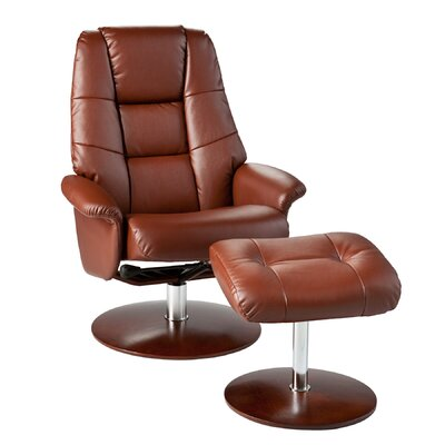 Wildon Home Kipton Recliner and Ottoman - Color: Cognac at Sears.com