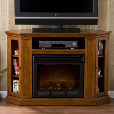 "Wildon Home Stuart 48"" TV Stand with Electric Fireplace - Finish: Brown Mahogany at Sears.com"