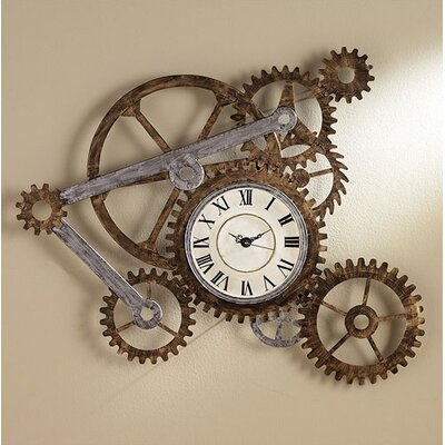 Rusty Gears Wall Clock