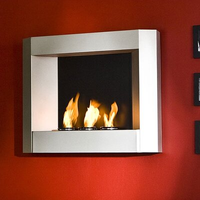 Sleek Wall Mounted Gel Fuel Fireplace