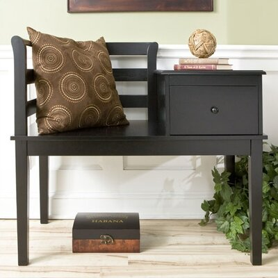 (wood bench) Wildon Home Taylor Cottage Gossip Bench in Black