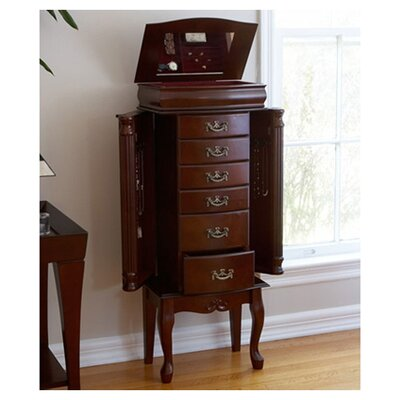Wildon Home Richmond Medium Mahogany Jewelry Armoire at Sears.com