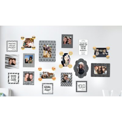 8 Piece Sticker Frame Wall Decal Set