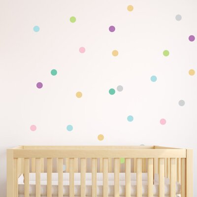 Small Polka Dots Wall Decal Color: White Small Polka Dots-white