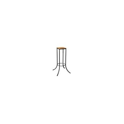 Mya� Personal J Series End Table Top Finish: Teak, Base Finish: Silver
