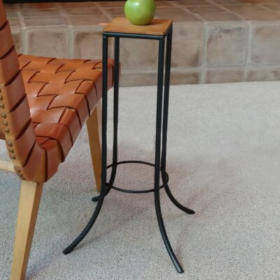Mya� Personal J Series End Table Top Color: Teak, Base Color: Black