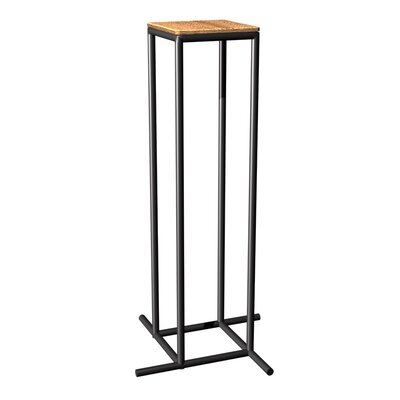 Mya L Series End Table Top Finish: Dark Cherry, Base Finish: Black