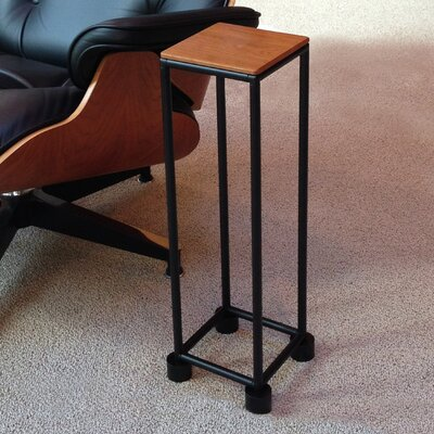 Mya� I Series End Table Top Color: Dark Cherry, Base Color: Matte Black